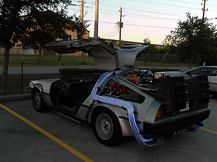 A mock up of the movie time machine...awesome!