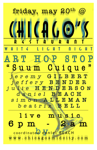 Art Hop Flyer for fall 2005